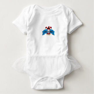 joke blue death banner baby bodysuit