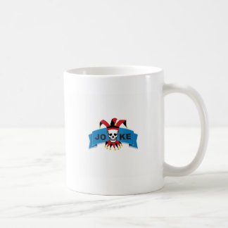 joke blue death banner coffee mug