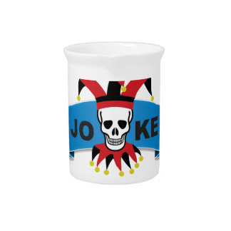 joke blue death banner drink pitchers