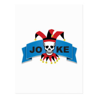 joke blue death banner postcard