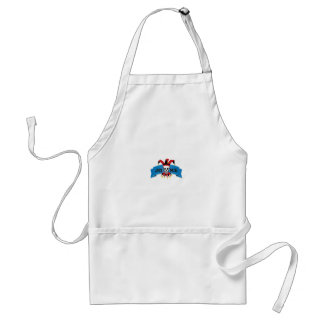 joke blue death banner standard apron
