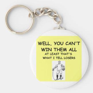 joke for winners! basic round button key ring