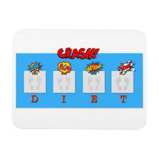 Joke on crash diets illustrations on magnet