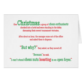 Humourous christmas jokes cards invitations zazzle joke pun funny word christmas xmas holiday card stopboris Image collections
