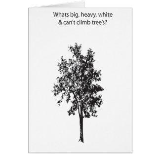 joke : tree note card
