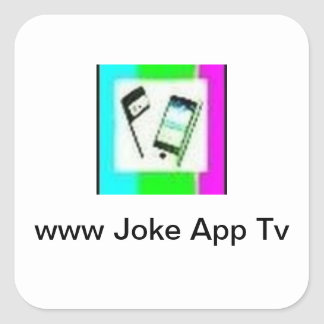 jokeAppTv Square Sticker
