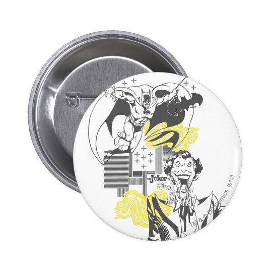 Joker and Batman Comic Collage 6 Cm Round Badge