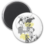 Joker and Batman Comic Collage 6 Cm Round Magnet