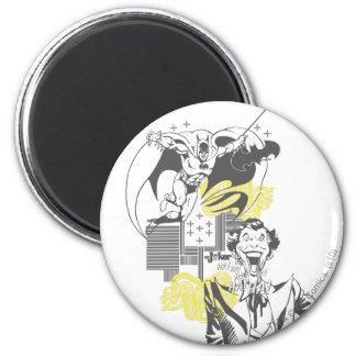 Joker and Batman Comic Collage Refrigerator Magnets