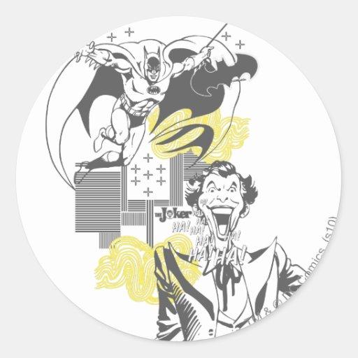 Joker and Batman Comic Collage Sticker