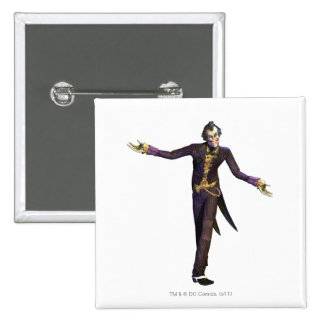 Joker Arms Out 15 Cm Square Badge