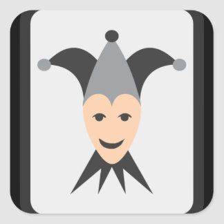 Joker Card Emoji Square Sticker