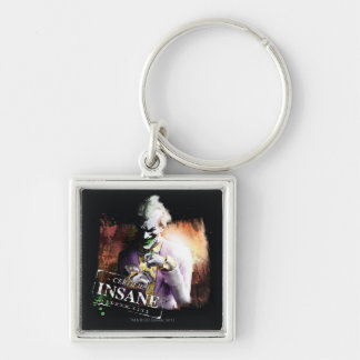 Joker - Certified Insane Silver-Colored Square Key Ring