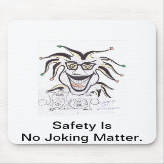 Joker Face For Safety Mouse Pad