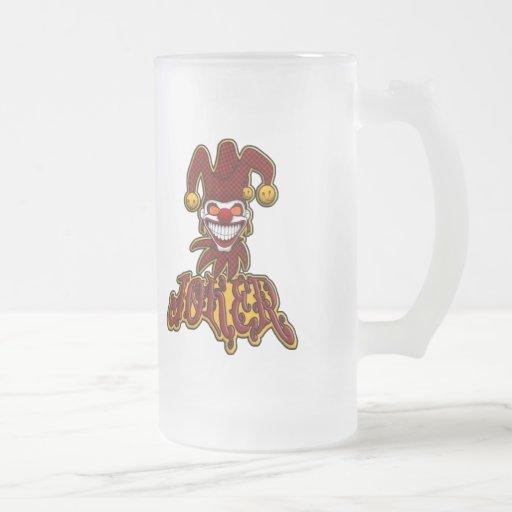 Joker Frosted Beer Mug