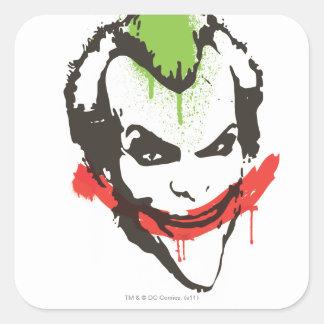 Joker Graffiti Square Sticker
