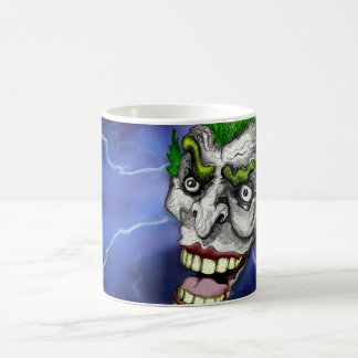 Joker Jester in a Lightning Storm by Doug LaRue Classic White Coffee Mug