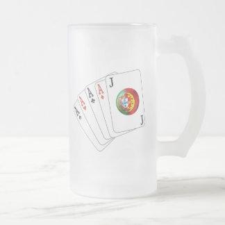 Joker no Jogo - Selecção das Quinas 16 Oz Frosted Glass Beer Mug