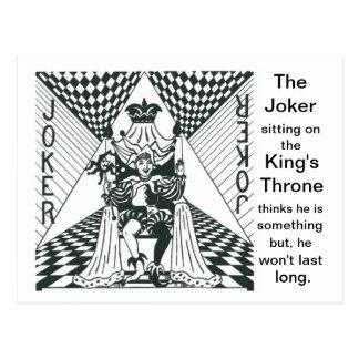 Joker on King's Throne - Postcard