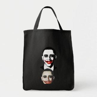 Joker pic head2 grocery tote bag