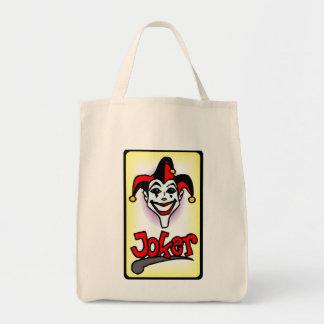 Joker Poker Playing Card Tote Bags