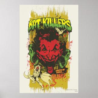 Joker Retro Comic Book Montage Poster