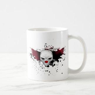 joker skull basic white mug