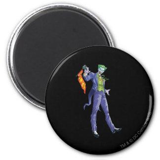Joker stands with gun 6 cm round magnet
