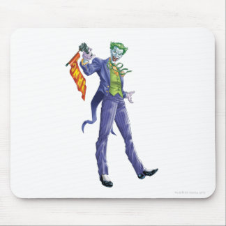 Joker stands with gun mouse pad
