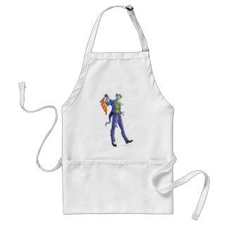 Joker stands with gun standard apron