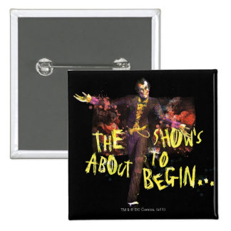 Joker - The Show's About To Begin� 15 Cm Square Badge