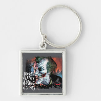 Joker - There's Plenty Wrong With Me! Silver-Colored Square Key Ring