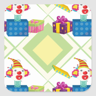 joker toy and gift boxes square sticker