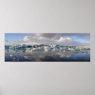 Jokulsarlon glacier lake in Iceland poster