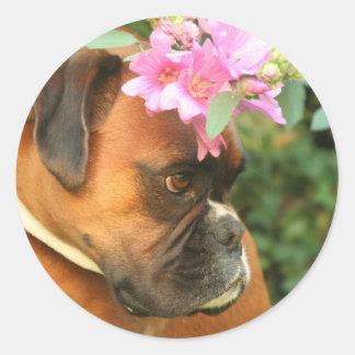 Jolie flower girl classic round sticker