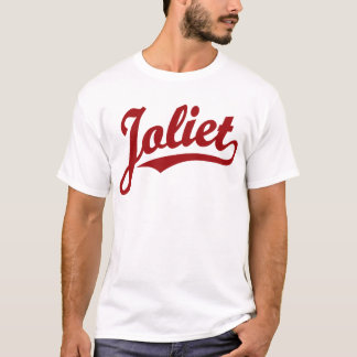 Joliet script logo in red T-Shirt