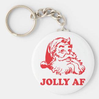 Jolly AF - funny santa christmas Key Ring