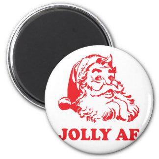 Jolly AF - funny santa christmas Magnet