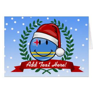 Jolly Aruba Flag Christmas Style Card