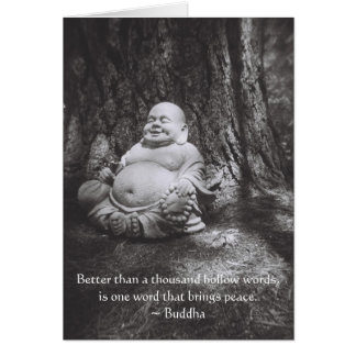Jolly Buddha - Buddha Quote Card