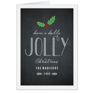 Jolly Chalkboard Christmas Greeting Card