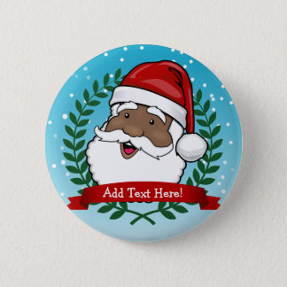Jolly Ethnic Santa Claus Christmas 6 Cm Round Badge