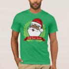 Jolly Ethnic Santa Custom Text T-Shirt