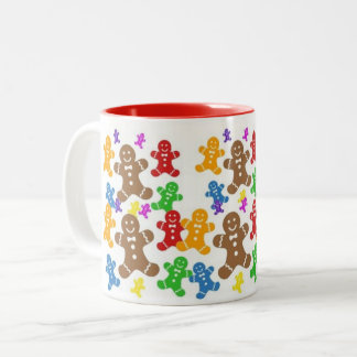 Jolly Gingerbread Men Coffee Mug