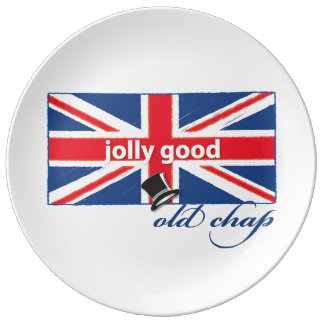 Jolly good old chap! plate