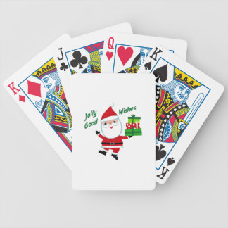 Jolly Good Wishes Poker Cards