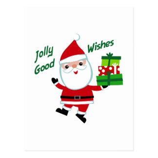 Jolly Good Wishes Postcard