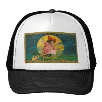 Jolly Halloween Vintage Witch Trucker Hat