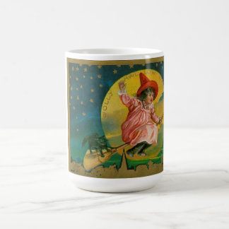 Jolly Halloween Vintage Witch Coffee Mugs