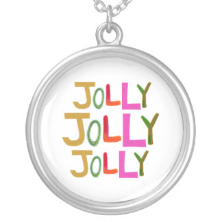 Jolly happy fun lively funny colorful word art pendant
